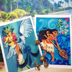 Your latest (and very tropical) orders will be shipped on Monday! Hope you all have the most colorful weekend! #etsy #nathsketch #prints #samba #moana