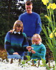 """womens mens childrens mohair sweater knitting pattern PDF ladies mohair jumper 26-42"""" mohair DK light worsted 8ply PDF Instant Download by Hobohooks on Etsy"""