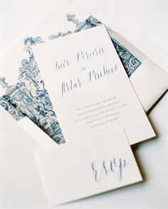 Bespoke Wedding Invitation Inspired By Portuguese Tiles From Tbakes Runner By Orchidee