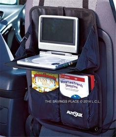 "BACK SEAT CAR LAPTOP DVD PLAYER 8"" TRAY HOLDER ORGANIZER W/POCKET STORAGE"