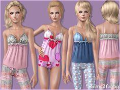 sims2fanbg's 316 - Teen Sleepwear Top 1