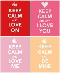 valentine's day keep calm