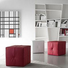 Contemporary, ultramodern 'Bean' pouf by Confort Line Contemporary Bean Bags, Contemporary Furniture, Poufs, Furniture Design, Shelves, Dining, Living Room, Bedroom, Home Decor
