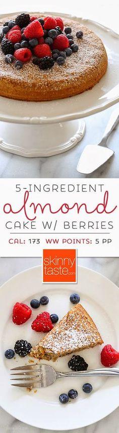 5-Ingredient Almond Cake with Fresh Berries (gluten-free)