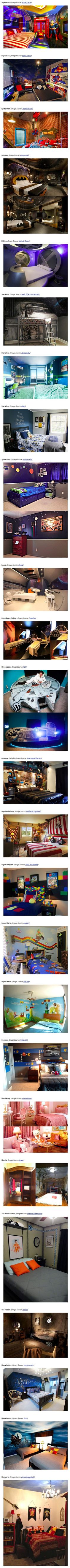 Because at the end of the day, what could be more fun than entering your very own world at night and waking from your fantasy dream every morning? Be you pirate or wizard, jedi or gamer, these are the 25 fantasy-themed bedrooms to die for.: