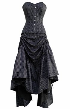 657223ff060b 862 Polka Dot Corset and Skirt. Must have! Steampunk Corset, Steampunk  Wedding,