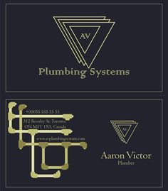 Plumber business card handyman business cards business cards logo and business card design av plumbing systems plumbing pipes business reheart Gallery