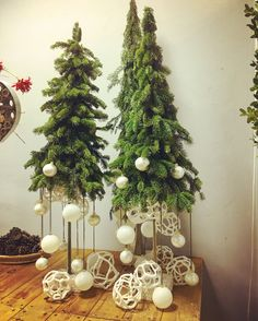 Vintage French Soul  ~ Unusual Christmas Trees, Christmas Tree Crafts, Rustic Christmas, Christmas Holidays, Christmas Wreaths, Christmas Ornaments, New Years Decorations, Christmas Decorations To Make, Holiday Centerpieces