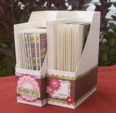 Really great picture tutorial for making a card file.