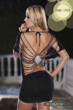 vestito strass 1703