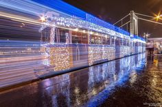 Long Exposure Photos of Budapest Trams Lit Up with 30,000 LED Lights... photo-2