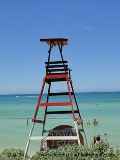 Lifeguard chair in Mexico