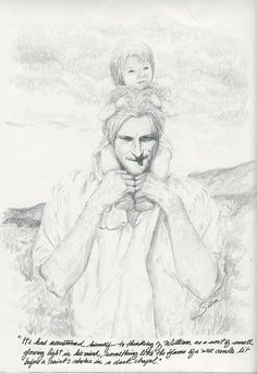 """He had accustomed himself to thinking of William,"" Jamie Fraser, The Scottish Prisoner (Diana Gabaldon's Outlander) Art: Tiny flame. by Outlander FanART, via Flickr"