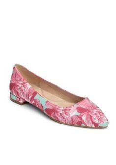 AEROSOLES Pink Floral Hey Girl Dress Flat