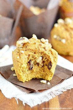 Raisin-Nut Pumpkin Muffins - A Pumpkin And A Princess