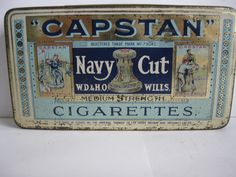 """CAPSTAN"" Navy Cut Cigarette tin"