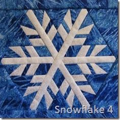Snowflake 4  Paper pieced block pattern available at https://payhip.com/CanuckQuilterDesigns