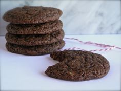 Virtuously Sinful Fudge Cookies...one bowl, no eggs, no butter.  Super easy, and amazingly delicious!