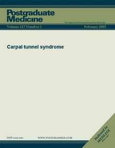 Carpal tunnel syndrome (Postgraduate Medicine) by JTE Multimedia. $3.29. Publisher: JTE Multimedia; 2 edition (May 9, 2011). 9 pages