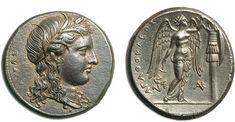 Syracuse, tetradrachm c.305-295 BC. Agathocles. 317-289 BC. Attic standard, 16.91g AR