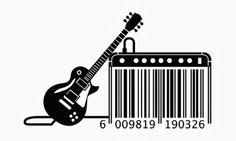 Creative barcode design with guitar Barcode Art, Barcode Design, Creative Design, Web Design, Graphic Design, Creative Art, Logo Design, Service Assiette, Guitar Art