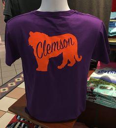 Clemson Tiger Short Sleeve Tee (Purple)