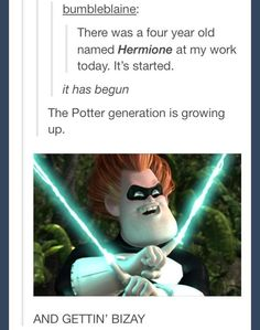 Potter generation growing up