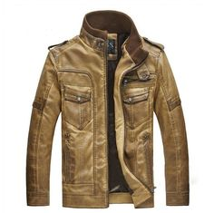 Awesome leather jacket!  Love it in the darker brown color.