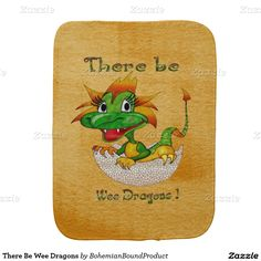 There Be Wee Dragons Baby Burp Cloths