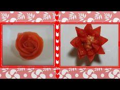 2 formas fáciles de decorar con tomate- 2 Easy ways to decorate with tomato - YouTube