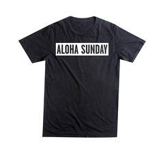 Aloha Sunday - Bumper Tee Black