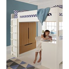Farringdon High Sleeper With Desk