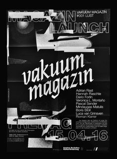 timetravel3000: Poster Vakuum Magazin Launch 2016