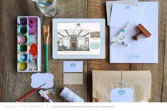Rachel Halvorson Designs | Logo update, website design, business suite, packaging