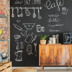Bar Sala, Blackboards, Farmhouse Decor, Latte, Lettering, Inspiration, Home Decor, Kitchen Ideas, Chalkboard Walls