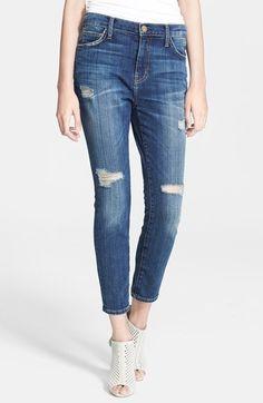 Current/Elliott 'The Slouchy Stiletto' Ankle Jeans (Tempest Destroy) | Nordstrom