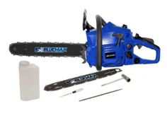 2-in-1 18 in. and 14 in. 38cc High-Performance Gas Chainsaw 2-Stroke Engine