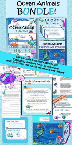 Grab your flip flops & slap on some sunscreen because this bundle contains ocean activities that your students will love! This bundle contains 4 subsavvy ocean products! Buy and save money!!