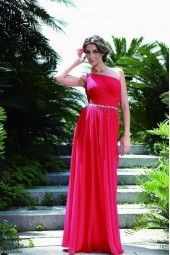 Lovely, (and modest) Chiffon One shoulder dress all colours available.
