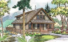 Country Style House Plans - 1749 Square Foot Home, 2 Story, 3 Bedroom and 3 3 Bath, 0 Garage Stalls by Monster House Plans - Plan 17-500