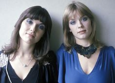 """Ann and Nancy Wilson of Heart back in the 1976 Dreamboat Annie - the first girls to really """"rock""""."""
