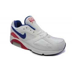 best service e5d2d f3110 Nike Air Max 180 Navy Blue White Sports Red Men s Shoes