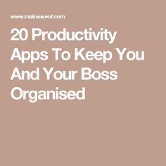 20 Productivity Apps To Keep You And Your Boss Organised Entrepreneur Inspiration, Business Inspiration, Work Inspiration, Admin Work, Best Free Apps, Marketing Opportunities, Productivity Apps, Future Jobs, Family Organizer
