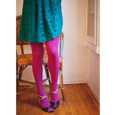 Opaque Zokki Tights in Fuchsia by #tabbisocks