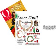 Art deco details are back this season – Thanks for the feature on our Casablanca Bracelet, O, The Oprah Magazine!