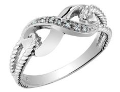 Save $251.00 on Infinity Diamond Promise Ring in 10K White Gold; only $249.00