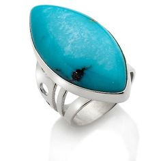 Jay King Marquise Campitos Turquoise Sterling Ring