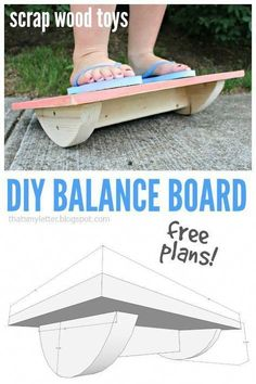 Ted's Woodworking Plans - Thats My Letter: Balance Board with free plans Get A Lifetime Of Project Ideas & Inspiration! Step By Step Woodworking Plans Kids Woodworking Projects, Wood Projects For Kids, Teds Woodworking, Diy Projects, Project Ideas, Woodworking Furniture, Woodworking Classes, Popular Woodworking, Woodworking Equipment