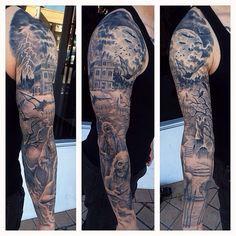 "@tattoo_artists's photo: ""_________________________ Artist: Josh Duffy (@josh_duffy) Location: San Pedro, CA Shop: Timeline Gallery Contact: 310-833-6900 (shop) • joshduffy42@hotmail.com"""