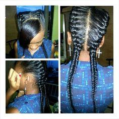 Goddess braids with a bang hairstyle - goddess Braided - Braided Hairstyles Updo, Sleek Hairstyles, Trending Hairstyles, Braided Updo, Pixie Hairstyles, Hairstyles With Bangs, Protective Hairstyles, Protective Styles, Box Braids Updo